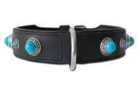 Leather Collar Antique Turquoise