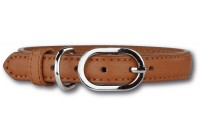 Leather Collar Cognac/Silver