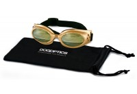 Sunglasses Dogoptics Ibiza Gold frame/Light Mirror lens